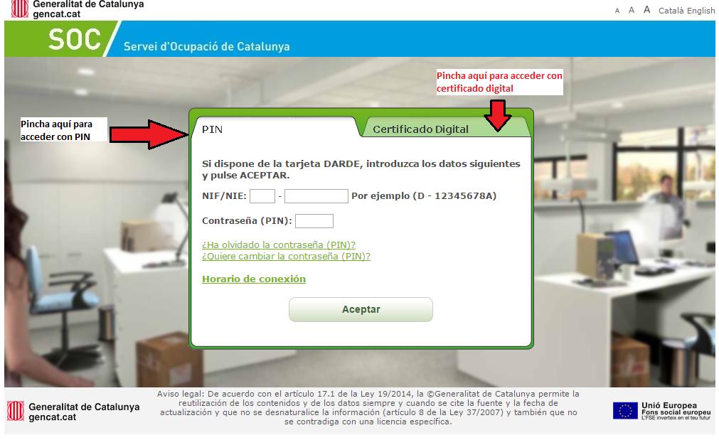 Servicio de empleo de catalu a soc oficina virtual de empleo for Oficina virtual de empleo jaen