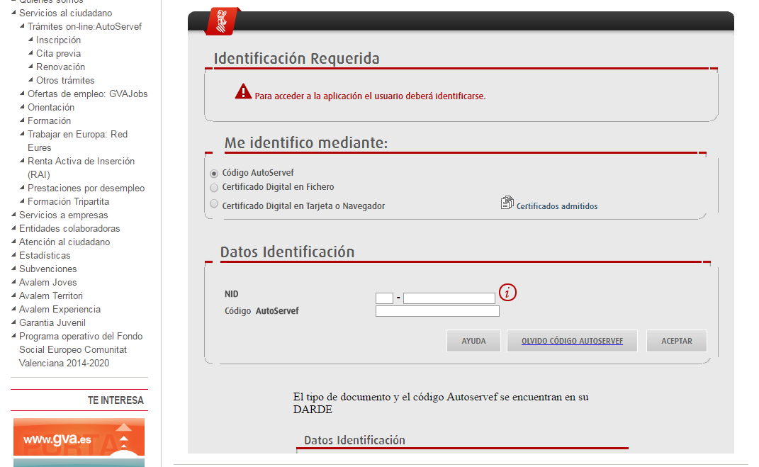 Sellar el paro en la comunidad valenciana gu a detallada for Renovar demanda de empleo con certificado digital